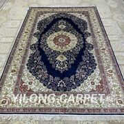 5and039x8and039 Handwoven Silk Carpet Living Room Oriental Home Office Area Rug H324b