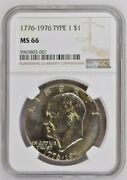 1976-p Type 1 Gem Uncirculated Ms66 Ngc College Tuition Sale