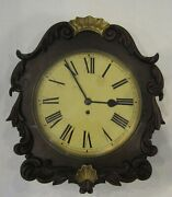 Antique English Fusee Wall Clock 8-day