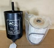 1955-59 Pontiac Used Oil Filter Canister With New Ac-pf122 Filter 518166