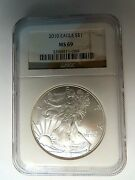 2010 American Silver Eagle Ngc Graded Ms69