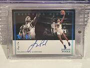 2020-21 Noir Reigning Nights Jordan Poole On Card Auto One Of One 1/1