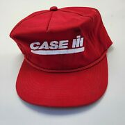 Case Ih Tractors Farm Hat Cap Red Adult Used Snapback Vtg Usa R8
