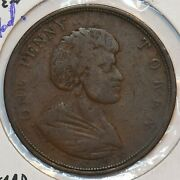 New Zealand 1850 Penny Token Edward Waters Auckland N0220 Combine Shipping