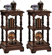 The Lord Pimlicoe Etagere - Handcarved Antique Replica Table- Set Of Two
