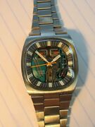 Restored 7396 Swiss Accutron 214 Stainless Spaceview Mens Watch Numbers Matching