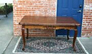French Antique Oak Louis Xv Dining Table