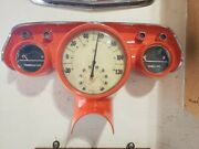 Vintage 1957 Chevy Instrument Cluster Repurposed To Thermometer And Humidity Gauge