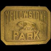 1927 Yellowstone National Park Service Wyoming Montana 20s Vintage Belt Buckle