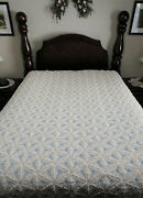 Vintage Hand Made Crochet Full / Queen Size Bedspread 89 L X 76 W Off-white