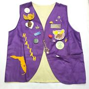 Vintage Loyal Order Of The Moose Wotm 1231 Vest With Pins And Accessories