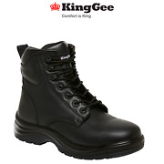 Kinggee Mens Cook Boots Tough Work Safety Water Resistant Full Leather K27700