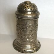 Antique George Ii 2nd Solid Silver Pepper Pot / Shaker By James Goodwin 1728