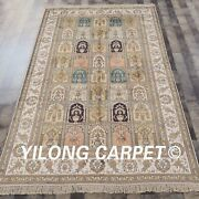 5and039x8and039 Four Seasons Handknotted Silk Rugs Home Office Indoor Carpet Y314ab