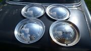 Vintage 1949 Plymouth Hubcaps Set Of 4