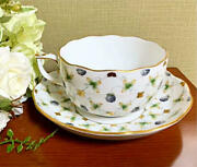 Herend Blueberry Composition Teacup Saucer