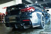 2014-2020 Bmw M3 F80 And M4 F82 Sm Style Carbon Rear Diffuser W/ Lip And Side Caps
