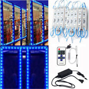 101000ft 5050 Smd Blue 3 Led Module Store Front Window Light Sign Lamp Kits