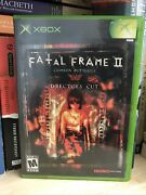 Fatal Frame 2 Crimson Butterfly Director's Cut Xbox, 2004 Complete Tested