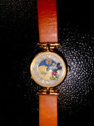 Vintage And Rare Fossil Disney Mickey Mouse Sun Moon Phase Watch