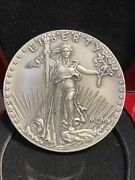 World's Largest Solid Sterling Silver 1907 St. Gaudens' 20 Us Gold Piece Medal.