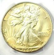 1947 Walking Liberty Half Dollar 50c Coin - Certified Pcgs Ms67 - 4500 Value