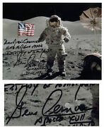 Gene Cernan Signed Handwritten Quote 10and039and039 X 8and039and039 Photo