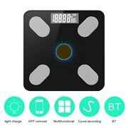 App Bluetooth Body Intelligent Fat Scale Solar-power Weight High Precision Gift