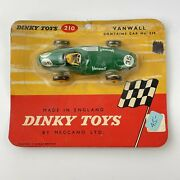 Dinky Toys 210 Vanwall Racing Car Scarce Unopened Blister Card Bubble Packaging