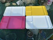 Set Of 4 Vintage Tupperware Divided Trays Plate Lunch Dinner Picnic