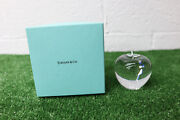 Collectible And Co Apple Paperweight Crystal Figurine. W/box.