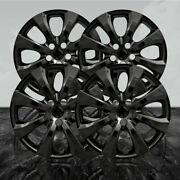 Auto Reflections Gloss Black 16 Wheel Covers For 2020 Toyota Corolla