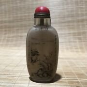 Chinese Crystal Hand-made Inner Painting Exquisite Snuff Bottle 17742