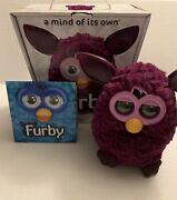 Furby Purple/plum Color 2012 Hasbro Interactive Toy Rare Tested And Working