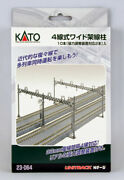 Kato N Scale Unitrack Train Track Four Track Catenary Poles Straight 10-pack
