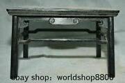 10.4 Old Chinese Ebony Black Wood Carved Dynasty Table Desk Antique Furniture