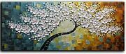 100 Hand Painted On Canvas Knife Tree Painting 3d Flowers Paintings A