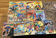 Lot Of 13 Vintage Superman Action Dc Comic Books 1970's 1980's - Good Overall