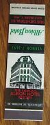 Baltimore Maryland Albion Hotel 1950s Matchbook Matchcover -e