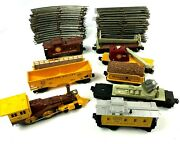 Lionel Redwood 8410 And Lehigh Valley O27 Gauge Train Cars Track Set Parts Pieces