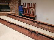 Antique Quarter Sawn Oak Cove Molding 3 Sections Of 14 + Feet With Carvings