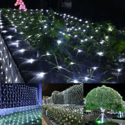 1.5m1.5m Led Net Mesh Christmas Fairy String Lights Xmas Party Outdoor Garden