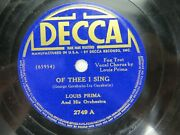 Louis Prima And Orch. - Decca 2749 - Of Thee I Sing And Sweet And Lowdown