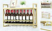 Industrial Wine Racks Wall Mounted With 8 Stem Glass Holder,rustic Metal 31.5in