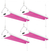 Sunco Lighting 4 Pack Led Grow Light 40w Red And Blue Red/blue Spectrum