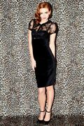 Wheels And Dollbaby Doll Baby No Sale Black Lace And Velvet Mini Dress Sz 2
