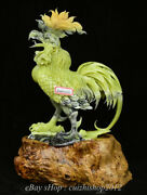 20 Natural Green Xiu Jade Jadeite Carved Feng Shui Animal Rooster Cock Statue