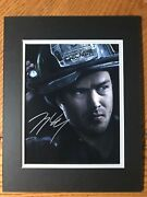 Taylor Kinney Chicago Fire Autographed 8x10 Matted To 11x14 Frame.