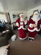Life Size Santa And Mrs Claus 5 Foot Animated Singing And Dancing Claus Christmas