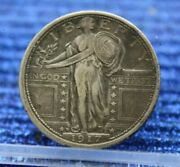 1917 D Standing Liberty Silver Quarter Type 1 Almost Uncirculated Au